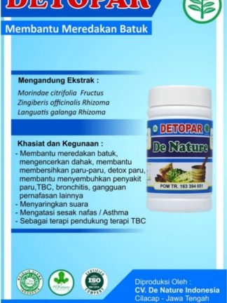 OBAT KAPSUL HERBAL DETOPAR DE NATURE
