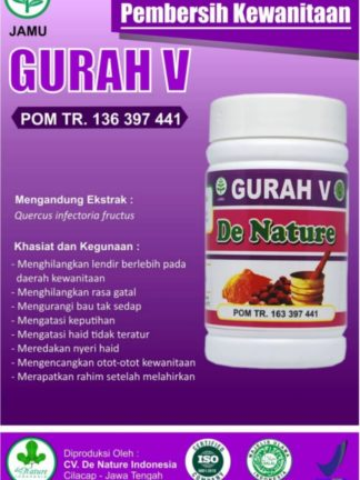 OBAT KAPSUL HERBAL GURAH V DE NATURE