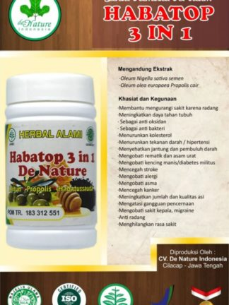 OBAT KAPSUL HERBAL HABATOP 3 IN 1 DE NATURE